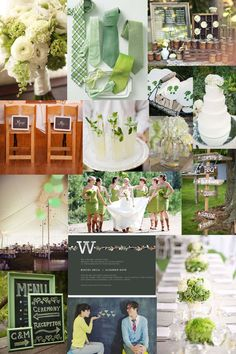 Green and White Summer Wedding