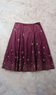 Handmade Holiday DIY Eyelet Embroidered Gore Skirt @ Alabama Chanin