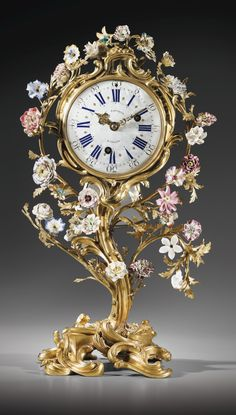 A gilt-bronze mounted porcelain mantel clock, Louis XV, the dial signed J.N. Baptiste & A.N. Martincere, dated 1753
