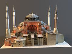 istanbul hagia sophia – Umar Tahir – Join the world of pin Mosque Architecture, Religious Architecture, Hagia Sophia Istanbul, Sainte Sophie, Fantasy City, Modelos 3d, Building Exterior, Roman Empire, Taj Mahal
