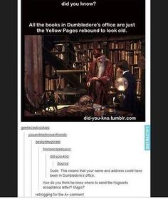 Dumbledore keeping up-to-date on Hogarts letters