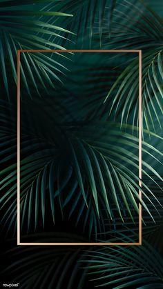 premium illustration of Rectangle golden frame on a tropical Rectangle golden frame on a tropical background Phone Wallpaper Images, Plant Wallpaper, Framed Wallpaper, Tropical Wallpaper, Cute Wallpaper Backgrounds, Tumblr Wallpaper, Aesthetic Iphone Wallpaper, Screen Wallpaper, Wallpaper Quotes