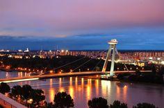 The bridge of Slovak National Uprising in Bratislava, Slovakia http://timeforslovakia.com/best-of-bratislava
