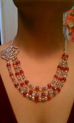 Rosy Red Bridesmaid necklace-by Alison Marlo Jewelry