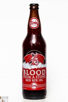 Bomber Brewing & Stone Collaboration Blood From A Stone Red Rye IPA Review Bottle #bccraftbeer
