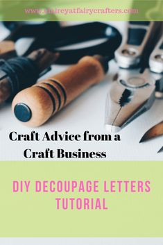 Add a personal crafty touch to your interior with this DIY decoupage letters guide #claireyfairymakes #DIYdecoupage #craft #DIYdecor