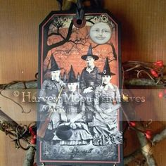Halloween Tags, Halloween Decorations, Paper Rosettes, Sweet Pic, Photo Corners, Tag Photo, Harvest Moon, Any Images, Tea Party