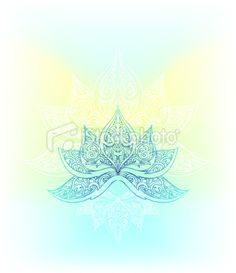 peaceful lotus Royalty Free Stock Vector Art Illustration