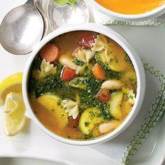 Vegetable Soup with Basil Pesto | MyRecipes.com