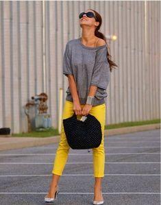 como combinar pantalones amarillos - Buscar con Google