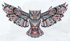 Detailed Color Pencil Owl 3.5 inch Sticker Vinyl Decal Stickers die cut Tattoo