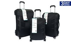 Get 57% #discount on It 3 pcs Ultra Strong Luggage - Black #onlinedeals #cashcashpinoy