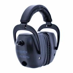 Pro Ears - Pro Tac Mag Gold - Military Grade Electronic Hearing Protection and Amplification - NRR 30 - Range Ear Muffs - Lithium Batteries - Black Electronic Ear Muffs, Shooting Accessories, Earmuffs, Audiophile, All In One, Headphones, Range, Military