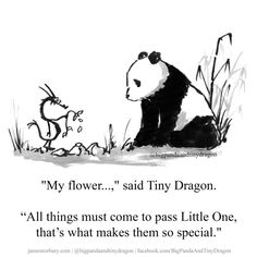 Big Panda, Little Panda, Poem Quotes, Wisdom Quotes, Funny Quotes, Dragon Quotes, Tiny Dragon, Zen Painting, Touching Stories