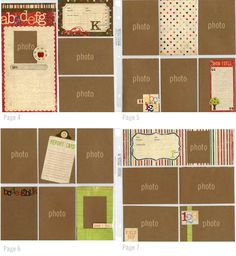School-themed layouts using Simple Stories Elementary Kit