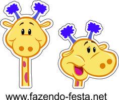 kit festa turma da galinha pintadinha para imprimir tag girafa