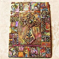 Meval Cross Mosaic 500 By Ashpaints Via Flickr Fimo Clay Polymer Projects