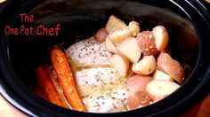 1kg of Chicken Breast Fillets  600g of Small Red Potatoes (quartered)  250g of Dutch / Baby Carrots (trimmed and peeled)  1/4 Cup of Olive Oil  1/3 Cup of Freshly Squeezed Lemon Juice  1 Teaspoon of Dried Oregano  1 Teaspoon of Onion Powder  2 Teaspoons of Crushed Garlic  1 Teaspoon of Salt  Freshly Cracked Black Pepper  Preparation Time: About 10 minutes  Cooking Time: 4 hours on HIGH or 8 hours on LOW