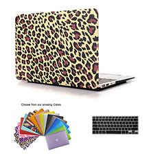 """2 in 1 Macbook Air 13 Case TECOOL® Frosted Matte Snap-on hard Shell Plastic Case Cover Skins and Silicone Keyboard Cover with TECOOL® Mouse Pad for MacBook Air 13"""" Model: A1466 and A1369(Yellow Leopard) TECOOL http://www.amazon.com/dp/B00QGDNFWU/ref=cm_sw_r_pi_dp_ppjswb16SR5RK"""