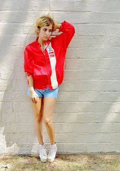 vintage COKE coca cola windbreaker jacket. by AlexAndAftonVintedge, $68.00