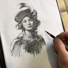 На данном изображении может находиться: 1 человек, рисунок Drawing Sketches, Pencil Drawings, Art Drawings, Face Sketch, Sketching, Sketchbook Inspiration, Art Sketchbook, Volume Art, Maurice Careme
