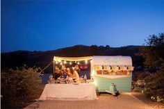 Wee trailer refreshment stand.  http://poppytalk.blogspot.com/2011/08/15-gorgeous-party-decor-ideas.html
