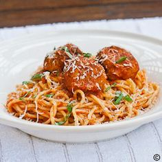 Slimmed Down Spaghetti  Meatballs #best recipe to try