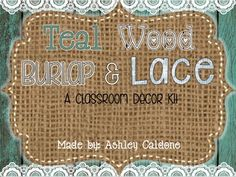 This shabby, and chic kit includes all that you will need to decorate your classroom with trendy teal and white shiplap, burlap, and lace theme. It includes pops of color to make a bright and fun learning environment for your students. Included in this 105 page file: -1-31 calendar