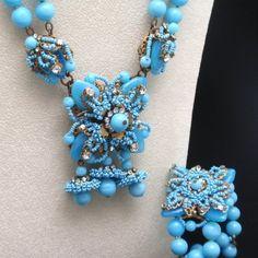 Miriam Haskell Necklace Bracelet Set Vintage Superb - yoyolz (seller)  eBay Image Hosting at www.auctiva.com