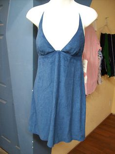 Sundress Blue by Locale Motion Womens Halter Lined Swimwear Dress Size M HS082 $22.45 Free Shipping. Accessorizing is very important for Your Personal Style! Island Heat Products http://stores.shop.ebay.com/Island-Heat-Jeans today's clothing Fashions.