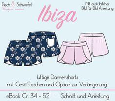Nähanleitungen Mode - Ebook Damenhose IBIZA  - ein Designerstück von Naehen-mit-Pech-und-Schwefel bei DaWanda