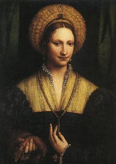 LUINI_Bernardino_Portrait_Of_A_Lady_1525 - Classic Art Paintings