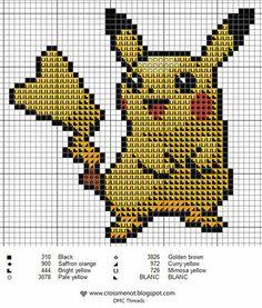 Pikachu needlepoint pattern