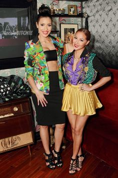 So is this what Chicquita Bananna would like like if she lived in 2012? (Empire girls julissa bermudez and adrienne Bailon)
