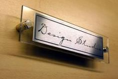 Office Door Signs personalised nameplates, chrome and acrylic and ...