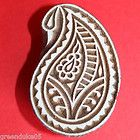 Hand Carved Paisley Wooden Printing Blocks for Paper or Fabric from India