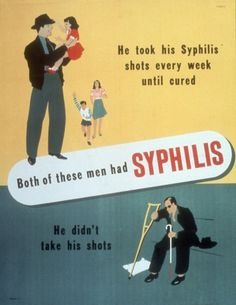 Intriguing WW2-Era Posters Telling People To Stop Getting STDs Already  These public health campaigns launched in the '30s and '40s feature some beautiful graphic design.