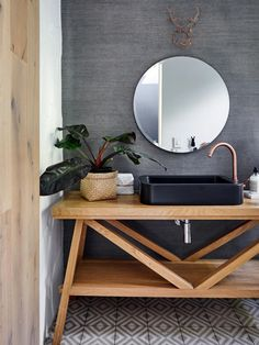 The renovation of this interior designer's home in Cape Town has changed it from a fragmented space into a spacious family refuge. Decor, Renovations, Furniture, Interior, Remodel, Round Mirror Bathroom, House, Home Decor, Entryway Tables