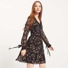 Sukienka w kwiaty, RESERVED, QF824-99X