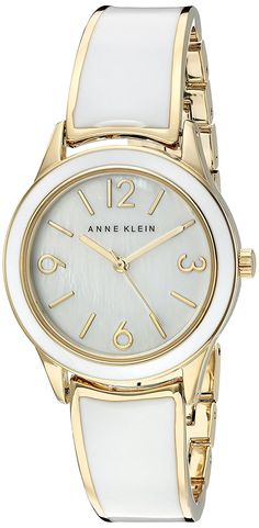 Anne Klein Women's Quartz Metal and Alloy Dress Watch, Color:White (Model: AK/2330WTGB) -- You can find out more details at the link of the image.