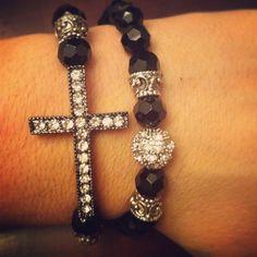 Vintage Inspired Cross Bracelet Set by AroundMyWrist on Etsy