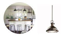 Examples of Industrial Lighting in the Kitchen #industrial #lighting