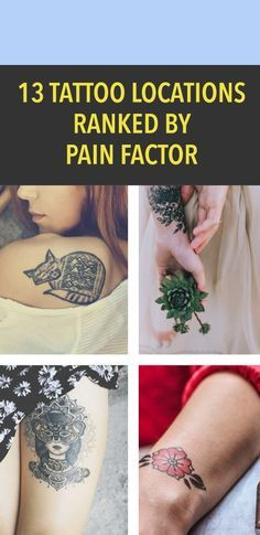 13 tattoo locations ranked by pain factor