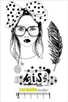 Tampon : Kiss - Art Stamp