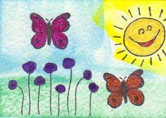 Flowers & Butterflies ATC