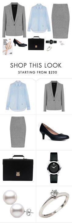 """классический стиль"" by partners-ko on Polyvore featuring мода, Victoria Beckham, Joseph, Louis Vuitton, Movado, Tiffany & Co. и H&M"