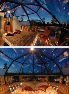 I would love this someday to stare at the stars while in bed.