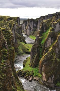 Fjadrargljufur Canyon in South East, Iceland  This place is amazing but who ever named it looks like they banged their head on the keyboard...