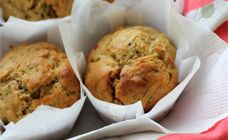 Apple and zucchini muffins - a good way to get veges into my little people :)