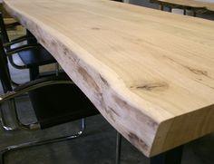 Robuuste stoere eiken tafels op maat gemaakt - Unieke Tafels op maat gemaakt met staal, rvs, eiken en noten
